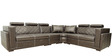 Nova Corner Sectional Sofa with Lounger in Designer Leatherette Upholstery by Star India
