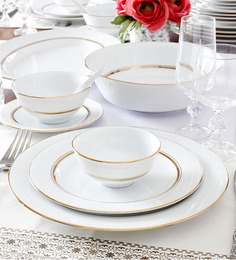 Noritake Gloria White Porcelain 13-piece Dinner Set