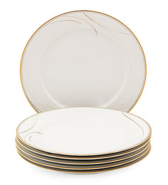 Noritake Golden Breeze Porcelain Dinner Plate - Set of 6