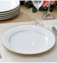 Noritake Heritage Gold Porcelain Dinner Plate - Set of 6
