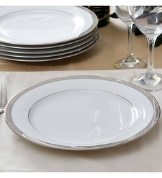 Noritake Legacy Spendor White Porcelain Dinner Plate - Set of 6