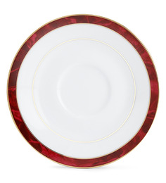 Noritake Red Marble Porcelain Dessert Plate - Set of 6