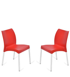 Novella Series - 7 Set Of 2 Chairs In Red Color By Nilkamal
