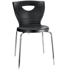 Waffle Straight Back Visitor Chair With Arms By Godrej