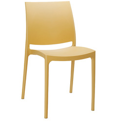 Novella Vistor Chair without Arms in Beige Colour by Nilkamal