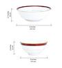 Noritake Marble Red Porcelain 21-piece Dinner Set
