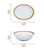 Noritake Signature White and Gold Porcelain 45-piece Dinner Set