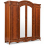 Norman Four Door Wardrobe in Red Matte Finish by Durian