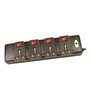 Novel Black 15.9 x 5.8 x 1.8 Inch 4+4 Surge Protector Power Strips Extension