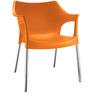 Novella Chair in Orange Colour by Nilkamal