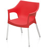 Novella Series - 10 Set of 2 Chairs in Red Color by Nilkamal