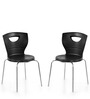 Novella Series - 15 Set of 2 Chairs in Black Color by Nilkamal