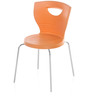 Novella Series - 15 Set of 2 Chairs in Orange Color by Nilkamal