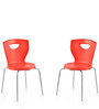 Novella Series - 15 Set of 2 Chairs in Red Color by Nilkamal