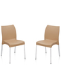 Novella Series - 7 Set of 2 Chairs in Biscuit Color by Nilkamal