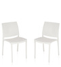Novella Series - 8 Set of 2 Chairs in White Color by Nilkamal