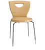 Novella Visitor Chair Without Arms in Beige Colour by Nilkamal