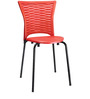 Novella Visitor Chair without Arms in Red Colour by Nilkamal