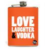 Nutcase 207 ML Love Laughter & Vodka Hip Flask