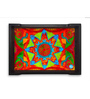 Nutcase Ethnic Colours Multicolour Pinewood Serving Tray