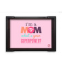 Nutcase Mom Superwoman Multicolour Pinewood Serving Tray