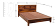 Oakland King Sized Bed in Provincial Teak Finish by Woodsworth