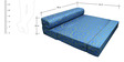 Oasis Trifold Sofa cum Bed in Blue Colour by RVF