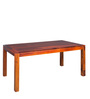 Oakville Six Seater Dining Table in Honey Oak Finish by Woodsworth