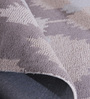Obeetee Grey & Winter Sky Wool 96 x 60 Inch Ikat Links Carpet