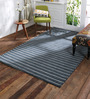 Obeetee Grey Wool 60 x 96 Inch Lozenges Carpet