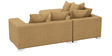 Oceanus Six Seater RHS Sofa Set in Light Brown Finish by CasaTeak