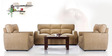 Octo Sofa Set (3 + 1 + 1) Seater in Light Brown Colour by Vive