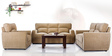 Octo Sofa Set (3 + 2 + 1) Seater in Light Brown Colour by Vive