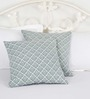 Ocean Collections Grey Cotton 16 x 16 Inch Cushion Covers - Set of 2