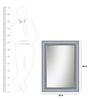 Odalis Minimalist Mirrors in Silver by CasaCraft