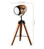 Oddcroft Brown Wood Table Tripod Lamp