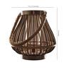 Oddcroft Silver Wood Lantern