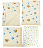 Cocobee Offwhite Star and Moon Print Baby Quilt in White Colour