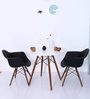 Okaki Accent DSW Eames Replica Chair (Set of 2) in Black Colour by Mintwud