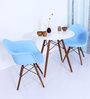 Okaki Accent DSW Eames Replica Chair (Set of 2) in Blue Colour by Mintwud