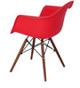 Okaki Accent DSW Eames Replica Chair (Set of 2) in Red Colour by Mintwud