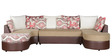 Olivia LHS Sofa with Lounger in Red & Beige Colour by HomeTown