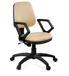 Omega Medium Back Ergonomic Chair in Beige Colour by Debono