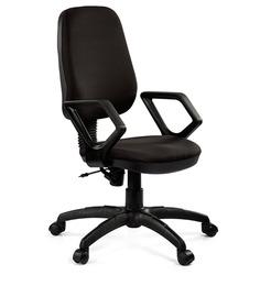 Omega Medium Back Ergonomic Chair in Black Colour by Debono