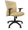 Omega Medium Back Ergonomic Chair in Beige Leatherette by Starshine