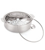 Omex Kioo Crown Silver Stainless Steel 2.6 L Casserole with Glass Lid