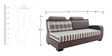 Ontario RHS Three Seater Sofa Set and Divan by Looking Good Furniture
