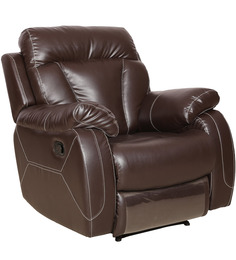 One Seater Manual Recliner in Brown Colour by Sofab
