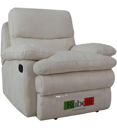 One Seater Recliner in Beige Colour by Furnitech