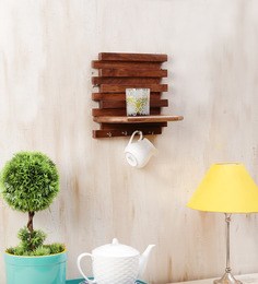 Onlineshoppee Brown Mango Wood Wall Rack Key Holder